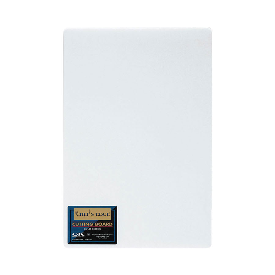"Tomlinson 1933034 Gold Series Full Sheet Cutting Board, 60 x 120 x 5/8"", White"
