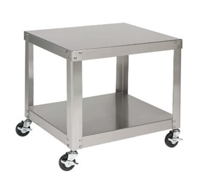 "Univex S-1A 24"" x 20"" Mobile Equipment Stand for Small Mixers, Undershelf"