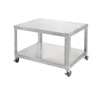 "Univex S-3B 32"" x 20"" Mobile Equipment Stand for Large Slicers, Undershelf"