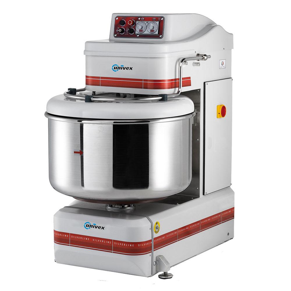 Univex SL120 265 lb Dough Capacity Stainless Spiral Mixer, 180 qt Bowl