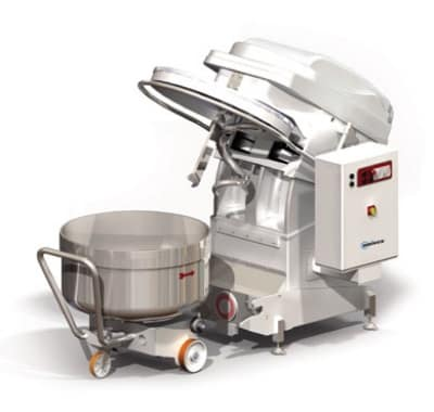 Univex SL120RB 265-lb Dough Capacity Stainless Spiral Mixer, 180-qt Bowl w/ Dolly