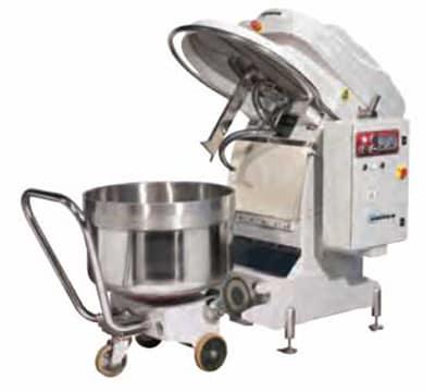 Univex SL250RB Spiral Mixer w/ 2-Speeds, Reverse & Removable Bowl, 550-lb Dough Capacity, 220v/3ph