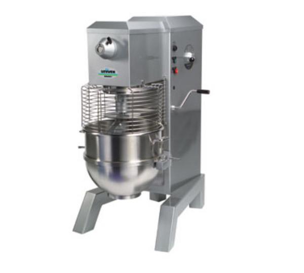 Univex SRM80H+ 2081 80-qt Capacity Floor Model Mixer, Stainless Bowl, 208/240/1, Silver