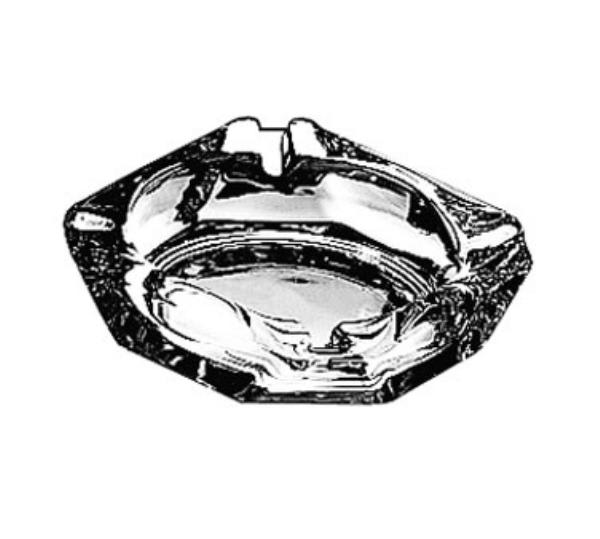 "Anchor 143U Ash Tray, 3-5/8"" Square, Glass"