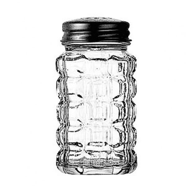 Anchor 1830EU 2 oz Shaker for Salt/Pepper - Metal Lid, Square