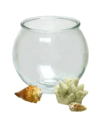 Anchor 23263M .5 gal Round Fish Bowl Terrarium, Crystal