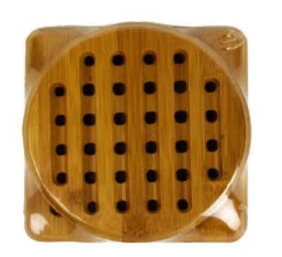 Anchor 23685 2-Piece Trivet Set w/ 1-Round & 1-Square Trivet, Bamboo