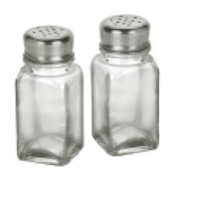 "Anchor 62421C 3.75"" Salt/Pepper Shaker w/ Metal Lid, Square"