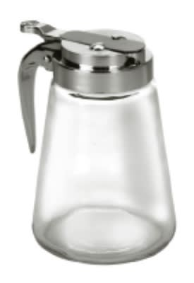Anchor 62423 Syrup Pitcher w/ Metal Lid, Crystal