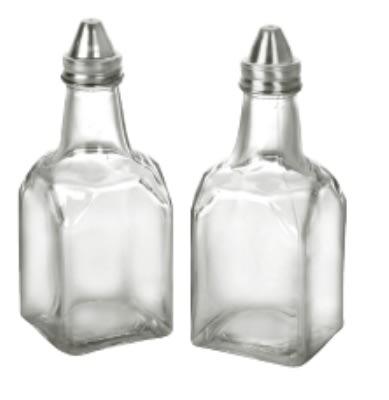 Anchor 62425 Vinegar Oil Bottle w/ Stainless Lid, Crystal