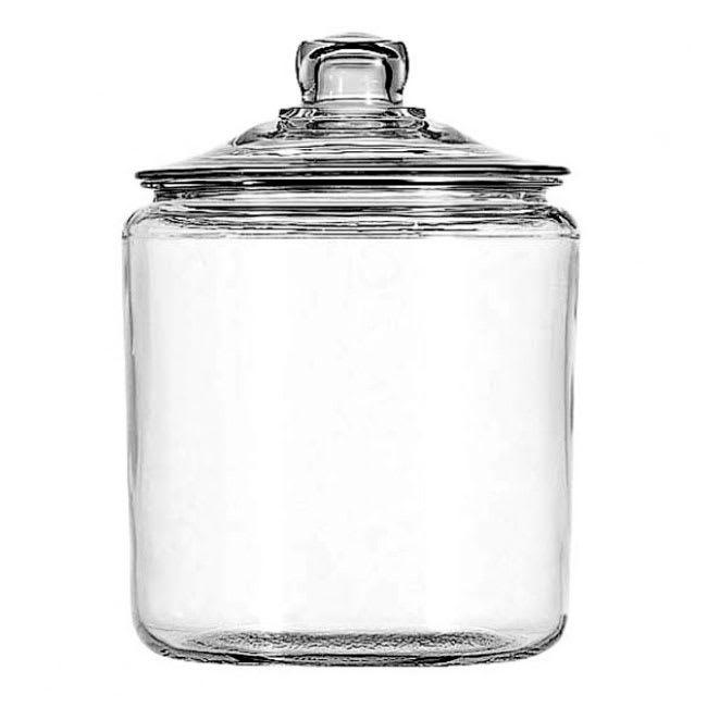 Anchor 69349AHG17 1-gal Glass Storage Jar w/ Lid