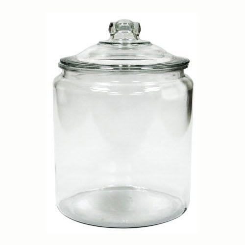 Anchor 69372MN 2 Gallon Heritage Hill Storage Jar - Glass, Clear