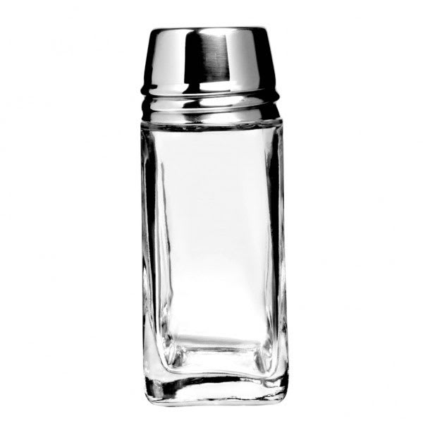 "Anchor 80570 4.25"" Shaker for Salt/Pepper - Metal Lid, Square"
