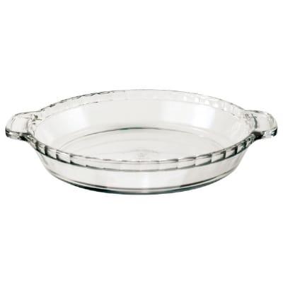 """Anchor 81214L11 9.5"""" Deep Pie Plate, Clear"""