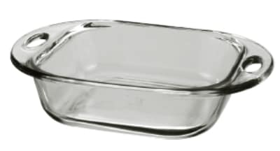 "Anchor 81993L9 8"" Square Sculpted Cake Dish, Glass"