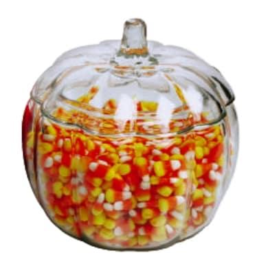 Anchor 85623R9 70 oz Pumpkin Jar w/ Glass Cover, Crystal