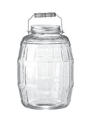 Anchor 85679 2.5 gal Barrel Jar w/ Handle & Brushed Aluminum Lid