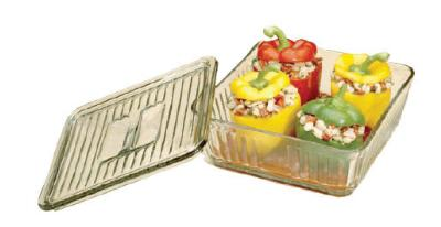 Anchor 85694L11 12-Cup Bake Dish w/ Glass Lid