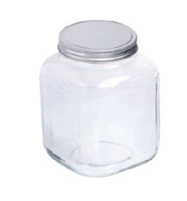 Anchor 85725 1-gal Cracker Jar w/ Brushed Aluminum Lid
