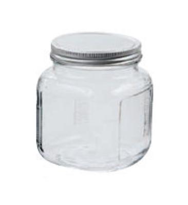 Anchor 85812R 1-qt Cracker Jar w/ Brushed Aluminum Lid