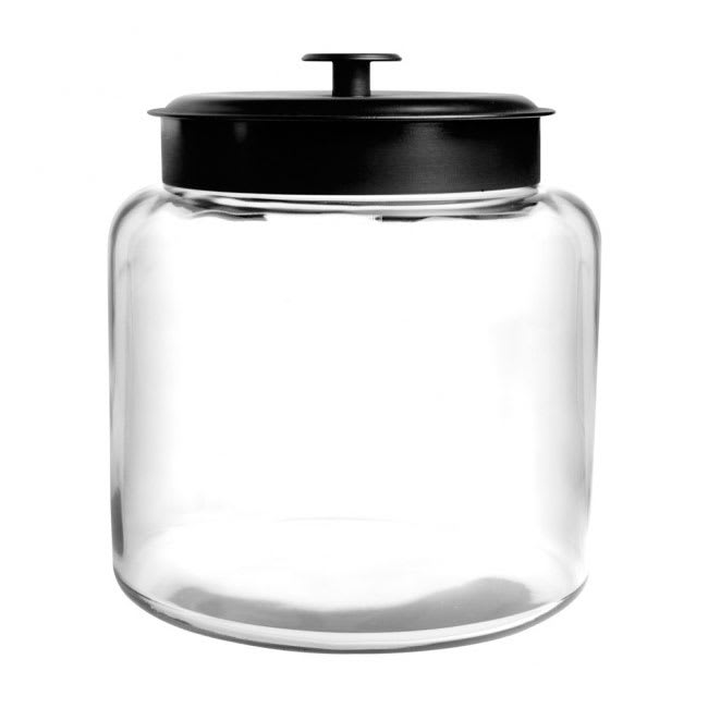 Anchor 88904AHG17 1 1/2 gallon Modern Montana Jar, Black Metal Cover