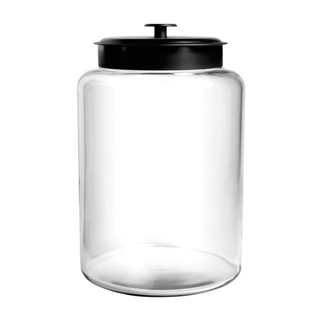 Anchor 88908AHG17 2.5 gallon Modern Montana Jar, Black Metal Cover