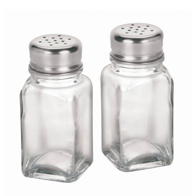 "Anchor 90079 3.37"" Shaker for Salt/Pepper - Metal Lid, Square"
