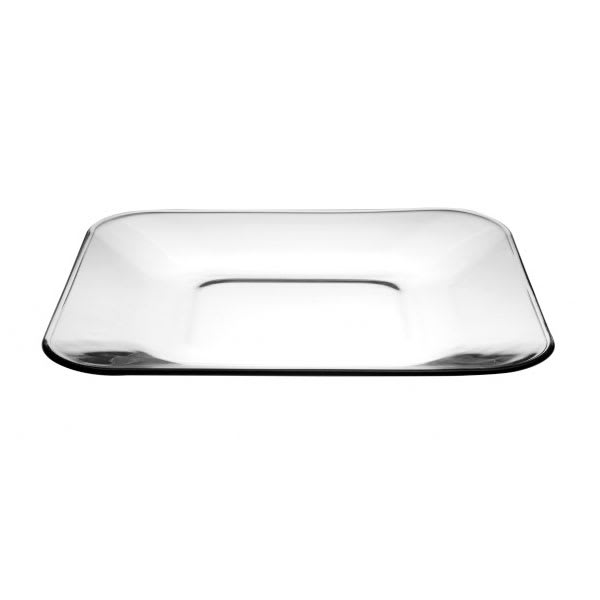 "Anchor 90283 10.5"" Square Glass Dinner Plate, Fully Tempered"