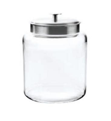 Anchor 91523AHG17 2-gal Montana Jar w/ Brushed Aluminum Metal Cover