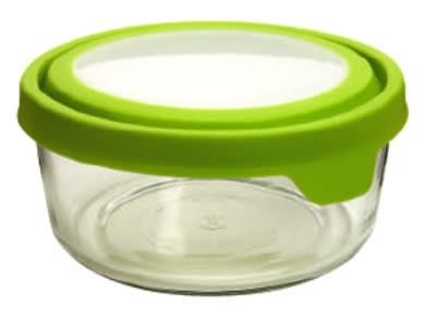 Anchor 91689 7-cup TrueSeal Round Storage Container w/ Cover, Crystal, Green