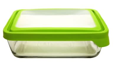 Anchor 91693 11-cup TrueSeal Rectangular Storage Container w/ Cover, Crystal, Green