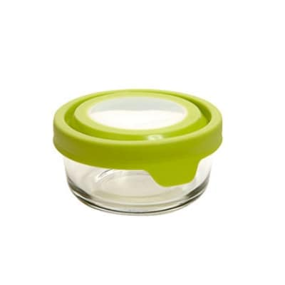 Anchor 91699W 1-cup TrueSeal Round Storage Container w/ Lid, Crystal, White
