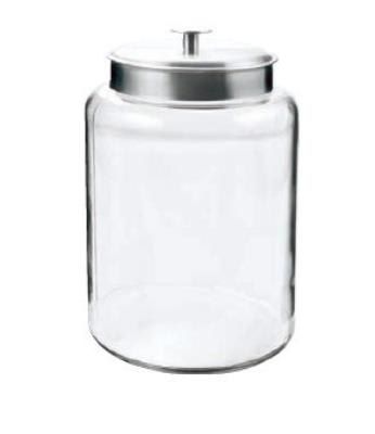 Anchor 95507 2.5-gal Montana Jar w/ Brushed Aluminum Metal Cover, 12x6.38x8.63""