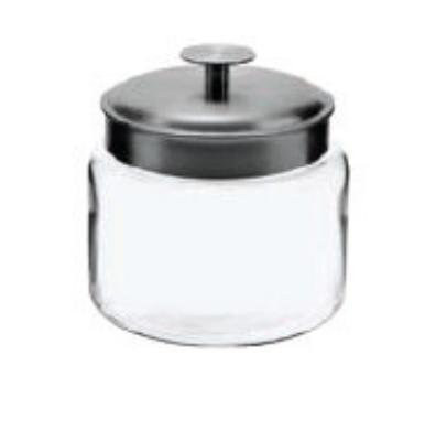Anchor 95539 48-oz Mini Montana Jar w/ Brushed Aluminum Metal Cover