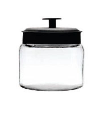 Anchor 96710AHG17 48-oz Mini Montana Jar w/ Black Metal Cover
