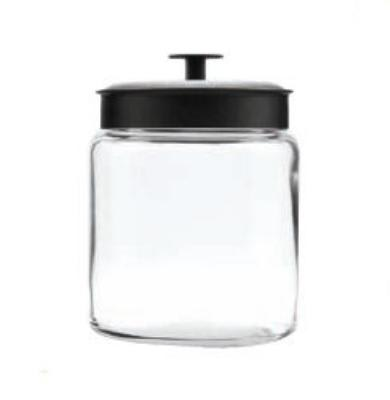 Anchor 96712 96-oz Mini Montana Jar w/ Black Metal Cover
