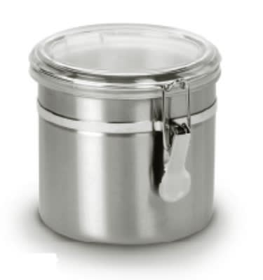 Anchor 98583 32 oz Round Clamp Canister w/ Acrylic Lid, Stainless