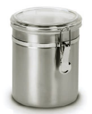 Anchor 98584 47 oz Round Clamp Canister w/ Acrylic Lid, Stainless