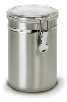 Anchor 98585 63 oz Round Clamp Canister w/ Acrylic Lid, Stainless