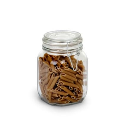 Anchor 98591CR1 38-oz Heremes Jar w/ Clamp Top Lid & Craft Store Insert, Clear