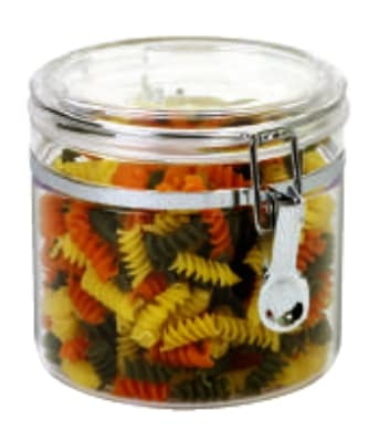 Anchor 98632 64 oz Round Canister w/ Clamp Top Lid, Acrylic, Clear