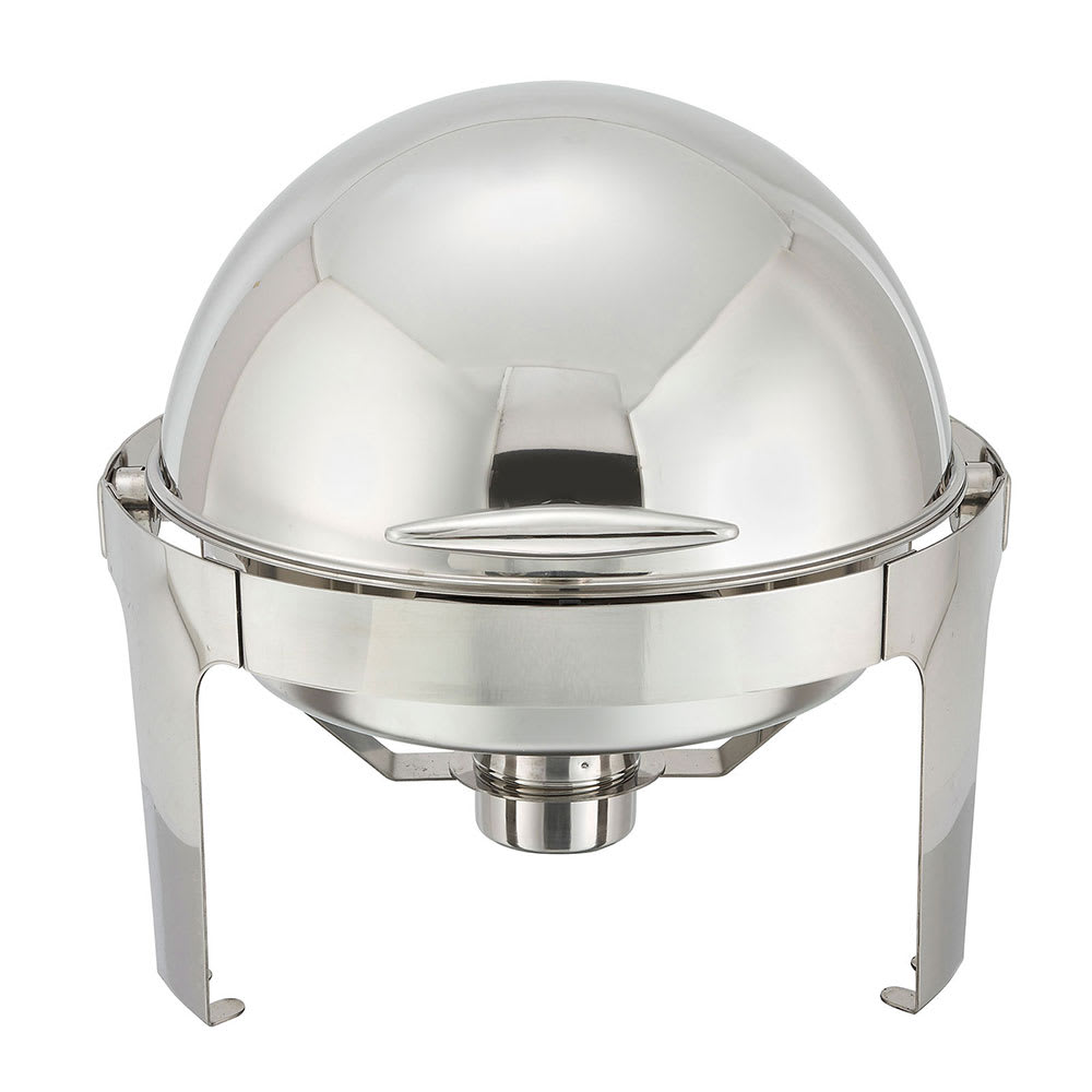 Winco 602 Round Chafer w/ Roll-Top Lid & Chafing Fuel Heat