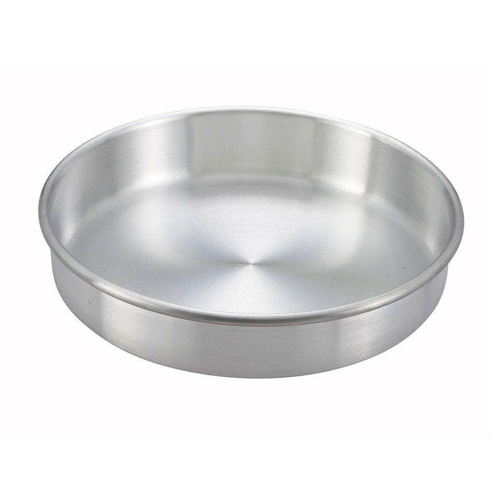 Winco ACP-082 Aluminum Layer Cake Pan, 8 x 2""