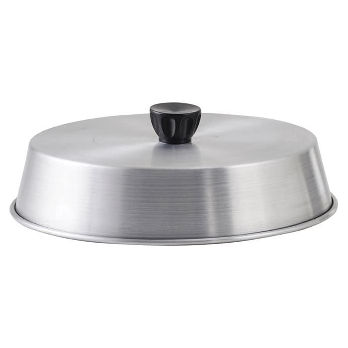 "Winco ADBC-9 9"" Grill Basting Cover w/ Handle, Aluminum"