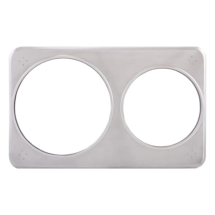 """Winco ADP-608 Adapter Plate w/ (2) 6.37 & 8.37"""" Holes, Stainless"""