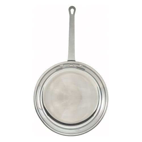 "Winco AFP-10 10"" Aluminum Frying Pan w/ Solid Metal Handle"