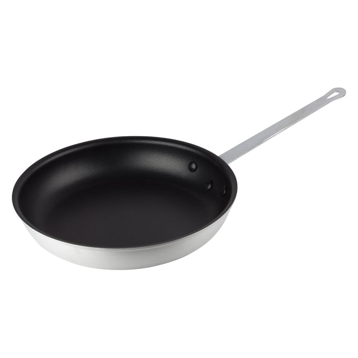 """Winco AFP-14NS 14"""" Non-Stick Aluminum Frying Pan w/ Solid Metal Handle"""