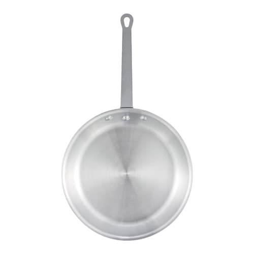 "Winco AFP-14S 14"" Aluminum Frying Pan w/ Solid Metal Handle"