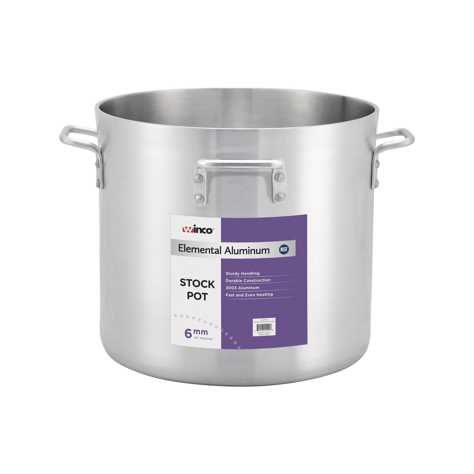 Winco ALHP-160 160 qt Aluminum Stock Pot