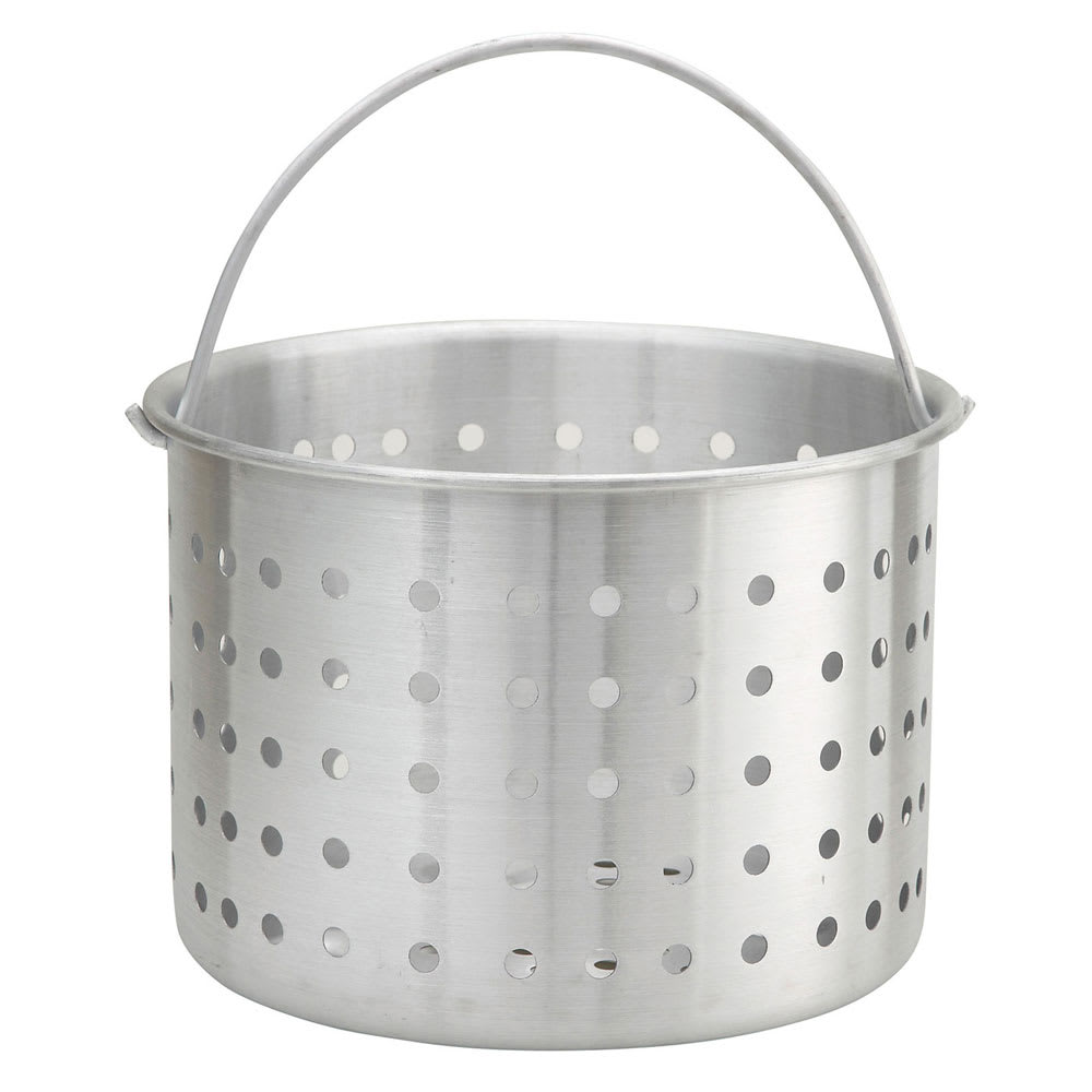 "Winco ALSB-32 32 qt Aluminum Steamer Basket, 12.3"" dia., 10""H"